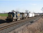 CSX 8579 & 7867 make track speed heading west with Q387
