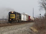 CSX 7643 & 8029 throttle up with Q500
