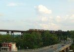 CSX northbound mixed (Q434?) crosses the Catskill Trestle, Catskill, NY