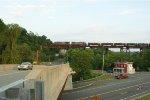 CSX northbound mixed (Q434?) crossing the Catskill Trestle, Catskill, NY
