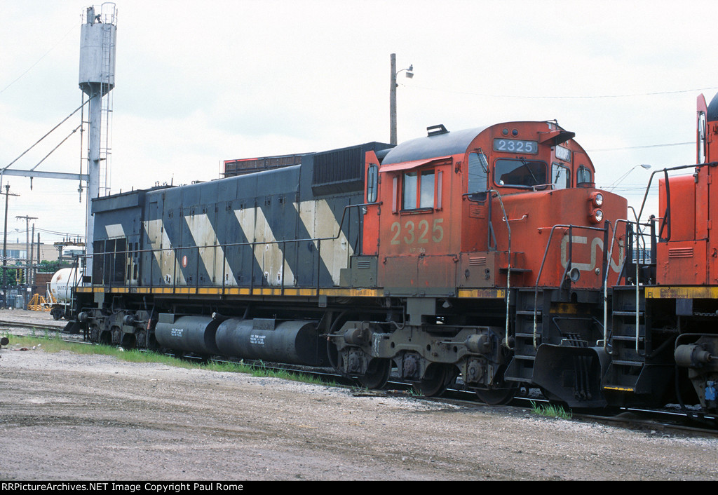 CN 2325, MLW M636, at the BN Clyde Yard