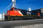 CN 2578, GE C44-9W, at the BRC Clearing Yard