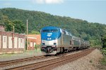 Amtrak P42 90 leads the westbound Pennsylvanian