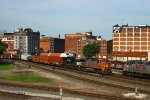 BNSF and KCS Train Meet