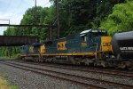 CSX 7514 trails on Q438-13