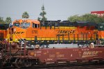 BNSF 6708 shines in the Late Day Sunshine as she waits for her next Train out of the Hobart Yard in Los Angeles, Ca.