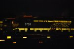 BNSF 6708 reflects her BNSF Swoosh Logo as my flash lights her up.