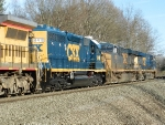 CSXT GE ES40DC's 5423 & 5300 with EMD SD40-2 8418
