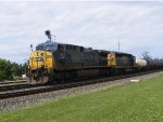 CSX 524 leads a mixed freight through Berea, Oh.