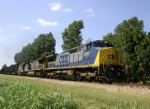 CSX Local F742 hammers the jointed rail