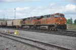 Eastbound eases out of Northtown Yard