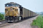 Paused coal train