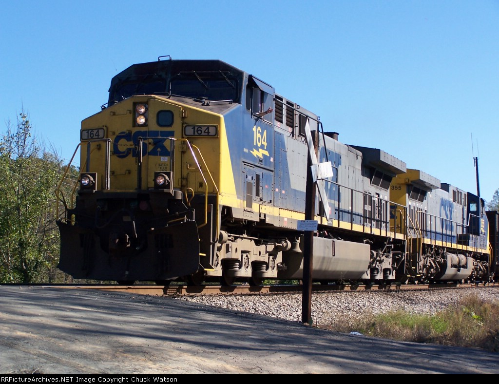 CSX 164 on the old Clinchfield at Thermal