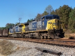 CSX 168 departs south on the old Clinchfield