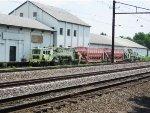 Amtrak Maintenance Equipment sits next to the Amtrak Keystone Corridor