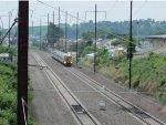 An Amtrak Keystone Corridor train approaches
