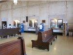 Ticket windows of Amtrak's Lancaster station