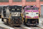 NS 8-40CW 8416 & MBTA GP40MC 1124