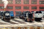 NS SD50 6519, NJT F40PH 293, NS MP15DC 2427 & NS SD60I 6734