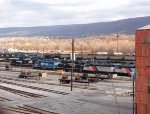 NS GP38 2943 & other EMD Power in the dead line