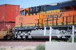 Close in shot of the left side of BNSF 6705.