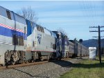 AMTK 184 - Passing CPVP 618 with Amtk 815 & 460 in tow.  AMTK 460 is a Pacific Surfliner Unit