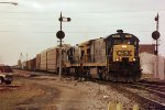 CSXT C30-7 7048--unknown EB--Deshler, OH December 1997