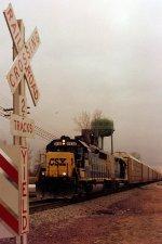 CSXT GP40-2 6938--unknown NB--Desher, OH December 1997