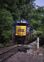 CSXT GP38-2 2703--G007--Troy, OH 052904 - PT Branch at Lytle Road