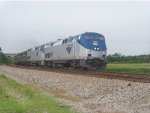 Amtrak P092 on track 1 at Contentnea Creek