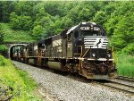 SD40E exits east side of the Allegheny Tunnel