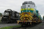 Helper Engine NS 6310 passes by Vale Locomotives heading to Brazil