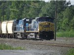CSX Q366 with the last C40-8 in CR on CSX