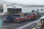 Pan Am and ex-Rail America slug set