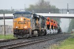 Westbound Q393 approaches from the east with 4 new BNSF GEVo's heading for home rails