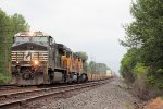 Eastbound intermodal train 26T rolls throw town  just shy of 8 AM