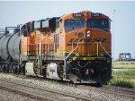 BNSF ES44DC 7326 & BNSF GP38-2 2046