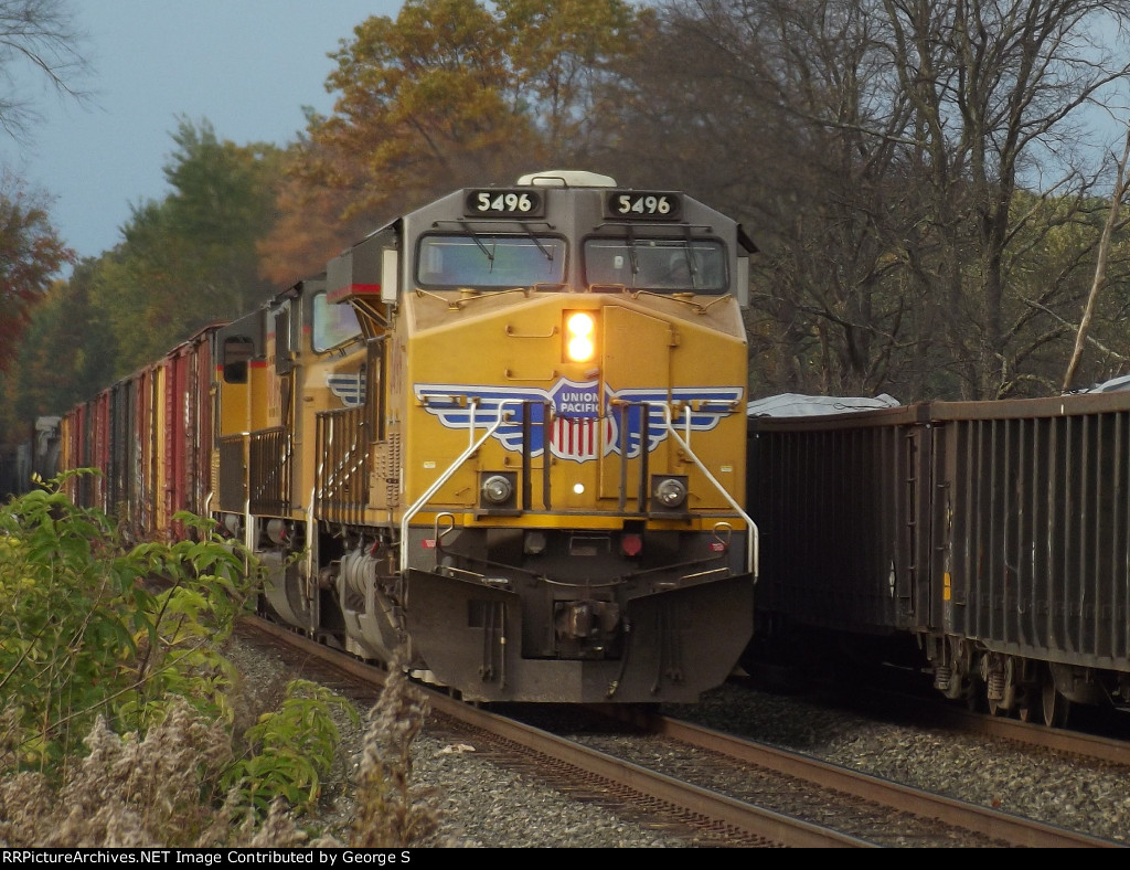 Eastbound manifest led by 3 UP engines