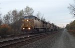2 UPs lead an eastbound dirt train