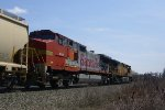 Eastbound BNSF Tank Train with Santa Fe