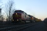 Santa Fe 600 leading a mixed freight