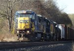 CSXT 7526 leads an eastbound manifest with ACLX 8534 in trail