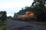 HLCX in BNSF H1 paint trails on XO92
