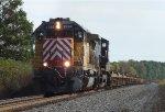 CITX SD40M-2 leads an empty intermodal west