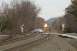 Car almost gets hit by CSX XO17