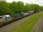 CSX Switchers trailing behind 2 Dash 8s