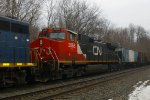 CN on a CSX Mixed Freight