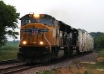 Eastbound UP Freight with a Nice NS SD70M-2 Second Unit