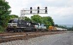 NS 10G eastbound under signals at mp 153