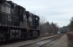 NS manifest stopped on a siding